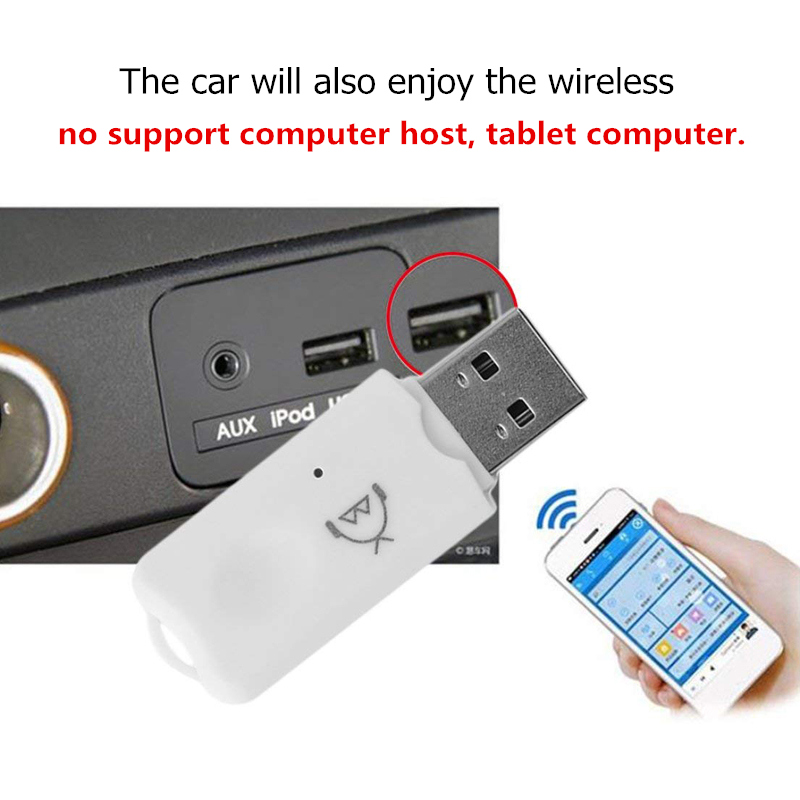 Binful Professional USB Bluetooth Stereo Audio Music Wireless Receiver Adapter for Car Home Speaker Support Handsfree Function