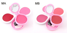 Blush Palette Powder Brushes Cosmetics Set Professional Long-Lasting Easy To Wear Face Make Up With Blush Brush(China)