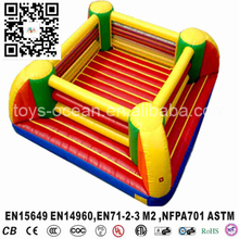 Inflatable boxing ring bouncer sport mattress for integrative game