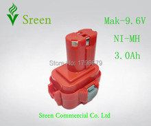 9.6V NI-MH 3000mAh Rechargeable Battery Replacement for Makita Power Tool Battery Packs 9100 9120 9101 9122 9120 PA09 Drill