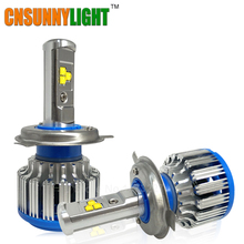 H4 Car Led Headlight High Power Auto H4-3 Hi/lo HB2 9003 H13 9007 High Low 40W X2 White 6000K Bulb Repalcement Bi Xenon Headlamp