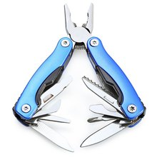 Outdoor Knife Survival Stainless Steel 9 In1 Plier Portable Pocket Mini Knit Compact Opener Bar Saw Wire Cutter Adventure Tools