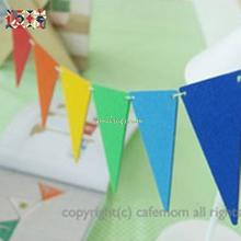 "2014 Real Cristmas Decoration ""mindray"" Children's Bedrooms Christmas Decorations Birthday Party Home Triangular Flags Wedding"