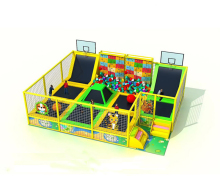 customized fitness trampoline park combo ball pool and rocking climbing all in one for the children indoor playground