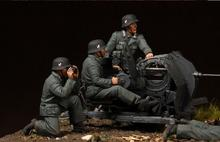 Free Shipping 1/35 Scale Unpainted Resin figure crew for 2 cm Flak 38 just 4 figures