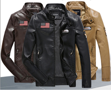 New Arrival Brand motorcycle leather jackets men ,men's leather jacket, jaqueta de couro masculina,mens leather jackets Parka(China)