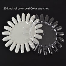 2016 10pcs False Tips Display Nail Makeup Practice Wheel Board Showing Shelf Holder polish display model piece of color swatches(China)