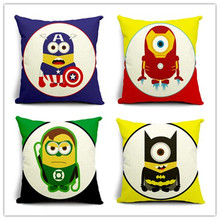 Best Selling Cartoon Style Cute Printed Pillow Bed Sofa Home Decorative Throw Pillow Fundas Para Almofadas Cojines(China)