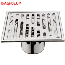 Bangnolux SUS 304 Stainless Steel Square Shower Grate Waste Tile Insert Square Floor Waste Grates Bathroom Drains Drain Strainer