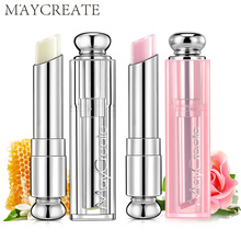 2017 MayCreate Lip Balm Tube Men Women Lips Sexy Aloe Honey Moisturizing Lip Kit For EOS Care Brand Makeup Lip Balm Containers(China)