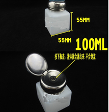 High quality 100ml Capacity Liquid Push Down Oil Alcohol Dispenser Clear Bottle Container