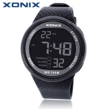 Hot!XONIX Men Sports Watches Waterproof 100m Outdoor Fun Multifunction Digital Watch Swimming Diving LED Wristwatch Montre Homme