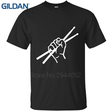 Trend tee shirt Drumsticks Drummer Awesome Music Lover Musician Gift Grey t shirt men's Hip Building No buckle shirts