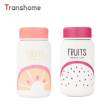 Transhome Vacuum Flasks 350ML Cute Fruits Stainless Steel Portable Thermos Mug Office Tea Sweet Gift For Kids Girls Water Bottle