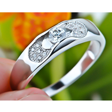 GNJ0141 High Quality 925 Sterling Silver Jewelry Couple Rings Fashion Romantic Top Quality Silver Ring For Women Men Unisex(China)