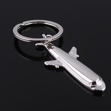 1PC Boeing 747 Airliner Airbus Plane keychain Airplane Model Toy key Rings Bag Accessories Fashion Jewelry Best For Pilots(China)