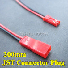 Buy 30 pair 200mm Male Female JST Connector Plug 2 Pin Red Black Cable RC Plane Li-Poly Battery Connecting for $11.31 in AliExpress store
