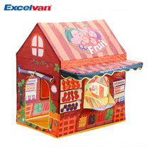 Excelvan Kids Toddlers Portable Folding Play Tent Fruit Shop House Tent with some Fruits, Kids Fun Indoor Outdoor Playhouse Toy