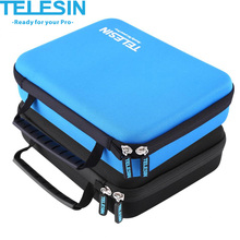 TELESIN Portable GoPro Camera Case Shockproof Protective Carrying Storage Bag for GoPro Hero 5 4 3 2 1 Action Camera Bag 2Colors