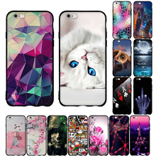 For iPhone 6 6S Plus Case For iPhone 5 5S SE Case 3D Painting Cover For Apple iPhone 7 7 Plus iPhone 8 8 Plus Cases Silicone Bag(China)