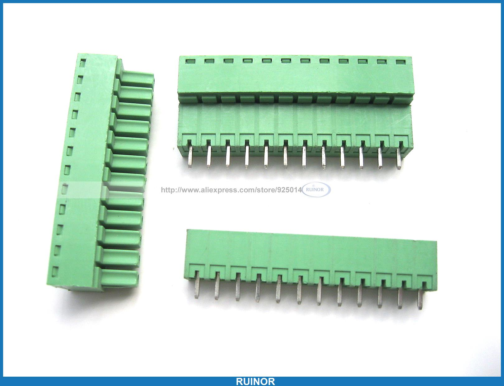 12 Pcs Screw Terminal Block Connector 3.5mm 12 Pin Green Pluggable Type <br><br>Aliexpress