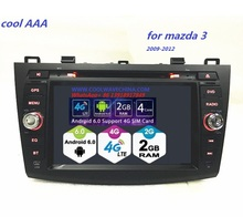 2din car radio  Android 6.0 Quad core for mazda 3  HD1024*600  8 inch  DVD player 2009-2012  with wifi  Screen odb2 4G bluetooth