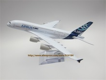 20cm Metal Airplane Model Air Prototype Airbus 380 A380 ProtoMech Development Aircraft Airways Plane Model W Stand  Gift