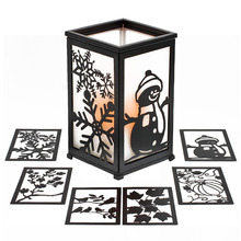 Candle lantern, all seasonal lanterns, led candles, 4 and 8 hour timer, 12 Pc can replace surface, 4 season views,(China)