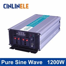 Pure Sine Wave Inverter 1200W CLP2400A DC 12V 24V 48V to AC 110V 220V Smart Series Solar Power Off grid 1200W Surge Power 2400W(China)