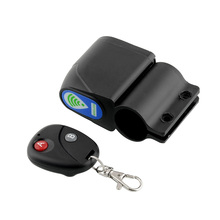 Lock Bicycle Cycling Bike Security Wireless Remote Control Vibration Alarm Super Loud Anti-theft Black