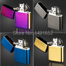 Multi-color High Quality Brand cigarette Lighters Fashion oil Metal smooth kerosene grinding wheel lighters best gifts for man