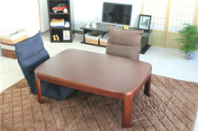 Japanese Kotatsu Table Rectangle 120cm Round Corner Walnut Color Home Furniture Living Room Kotatsu Low Coffee Table Wooden