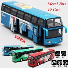 Alloy Travelling bus model, WB Toys Bus, light and music, open door,Pull back and Return, Metal Toys
