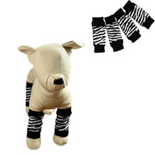 hot selling new Pet Dog Leg Socks Zebra-stripe Cute Warm Socks Dog Non-slip Pet Leg Warmers Warm Sock 2017 high quality shoes