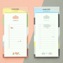 1 Pack New Creative Happy Cloud Check List Memo Pad Sticky Notes Memo Notebook Stationery School Supplies