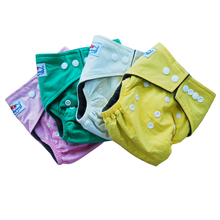 30 pieces A lot Free Shipping 100% Bamboo Cotton Eco-friendly Babyland Cloth Diapers(China)