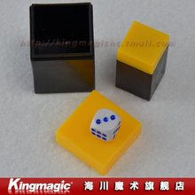 Kingmagic Thousand mile eye/Gamble Dice/Talking Dice/Dice Capsules/magic dice/magic trick  5pcs/lot