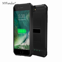 NYFundas for iPhone 7 Plus Battery charger Case 4200mah Extended Backup Power Bank Battery Case Cover For iPhone 7Plus 6s 6 plus(China)