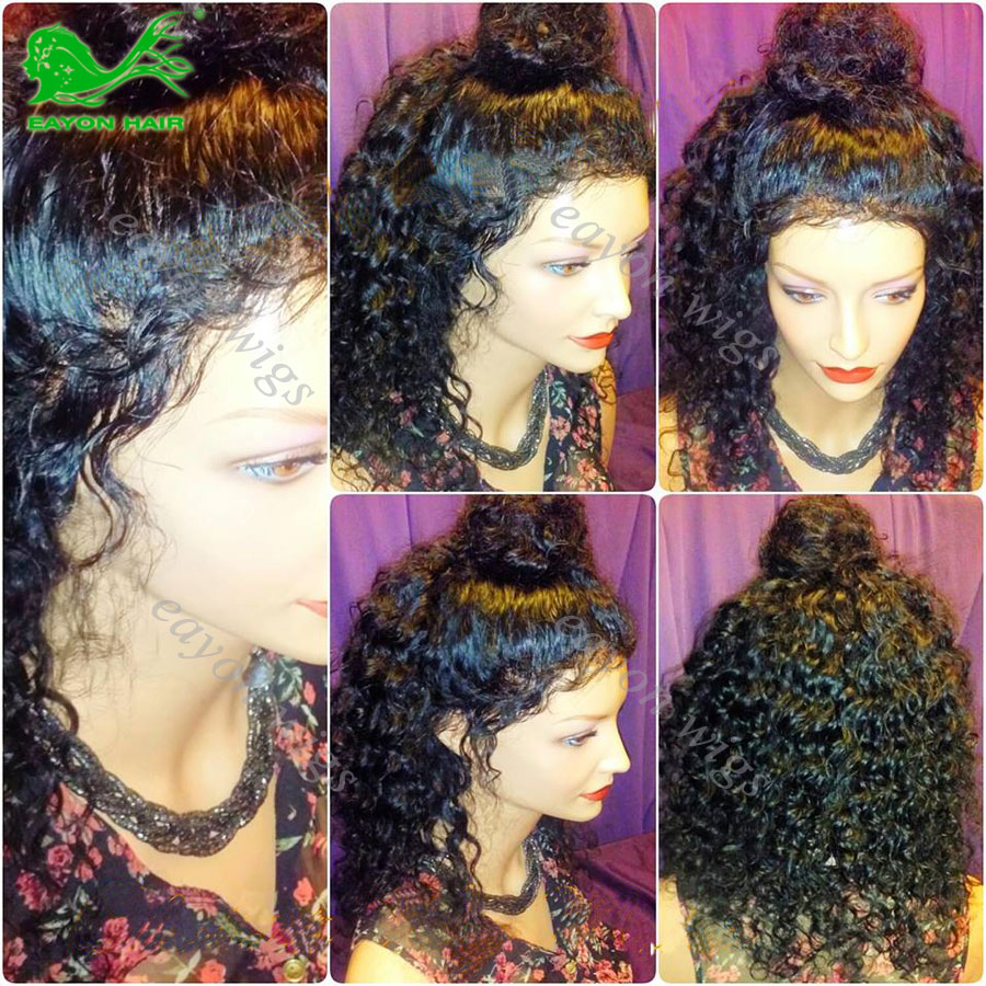 Lace Front Human Hair Curly Wigs Black Women Brazilian Full Lace Frontal Wigs Glueless Full Lace Human Hair Wigs With Baby Hair<br><br>Aliexpress