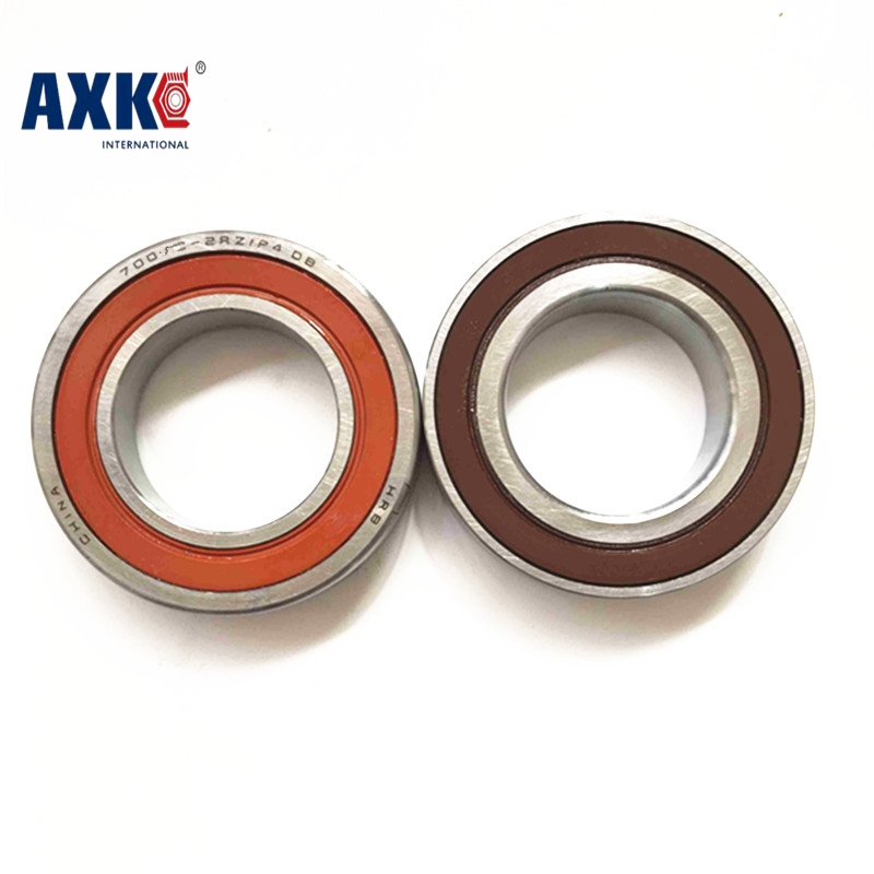 1 Pair AXK 7003 7003C 2RZ P4 DT 17x35x10 17x35x20 Sealed Angular Contact Bearings Speed Spindle Bearings CNC ABEC-7<br>