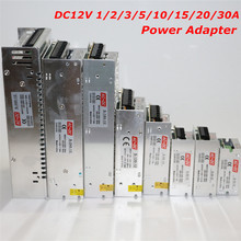 Adjustable DC 12V LED Power Supply 1A 2A 3A 5A 10A 15A 20A 30A AC100V 110V 127V 220V 230V to DC12V Led Driver Power Transformer