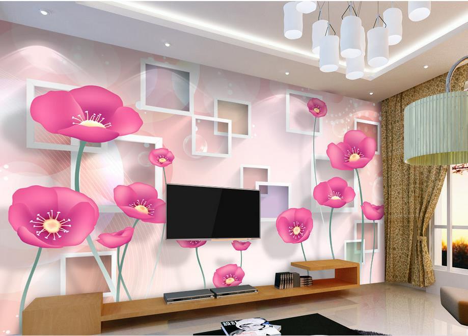 wallpaper brick wall custom bedroom wallpaper Warm minimalist fashion flowers 3D TV backdrop 3d mural wallpaper<br><br>Aliexpress