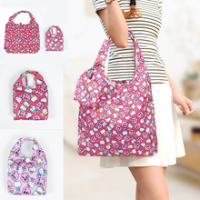 NEW 2Colors, Hello Kitty Women Handbag ; Reusable Shopping BAG , Foldable Storage Shoulder Satchel Bag Pouch