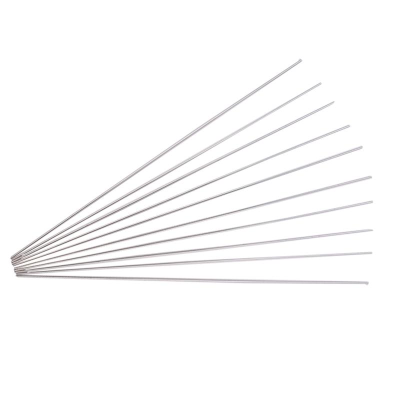 10pcs Aluminum Alloy Silver Tig Filler Welding Rods 1.6mm Diameter 330mm Length Brazing Wire Tools