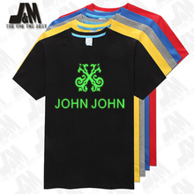 John John logo printed tshirt brasil brand tee shirt 100% cotton camiseta Chinese SIze S-6XL camisa glow in the dark(China)