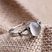 Sz5-10 Twilight  Bella's Wedding Ring White Gold Filled Opal Moonstone Women's Wedding Ring Band Cosplay Film