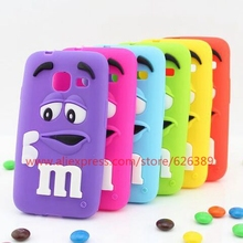 New Arrival MMS Chocolate Candy Silicone Cell Phone Case For Samsung Galaxy J1 Mini J105 J105H J105F J1 Nxt Duos 4.0""