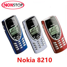 Refurbished Original Nokia 8210 Unlocked GSM 2G 900/1800 Mobile Phone Refurbished Cellphone Simple Function Phone Free Shipping(China)