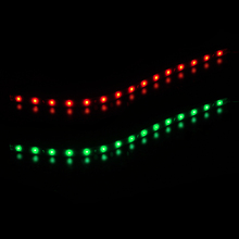 DWCX New 2 PCS 12V Boat Navigation Waterproof Red & Green LED Lighting Strips For Marine Car Decal(China)