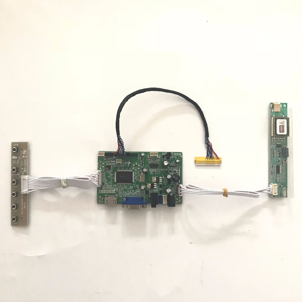 Free shipping RTD2668 Universal HDMI VGA Audio lcd controller board for 16 inch  lcd panel LTN160AT01 CCFL LVDS monitor kits<br>